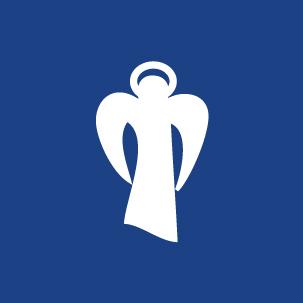 La purezza e la genuinità racchiusi nell'icona di un angelo bianco su sfondo blu per il nuovo logo dell'acqua San Cassiano